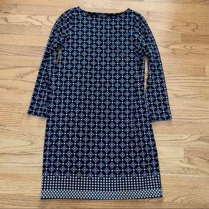 J. Jill Wearever Dress - Diamond Print w/Boat Neck